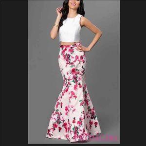 Xscape two piece mermaid prom dress size 2